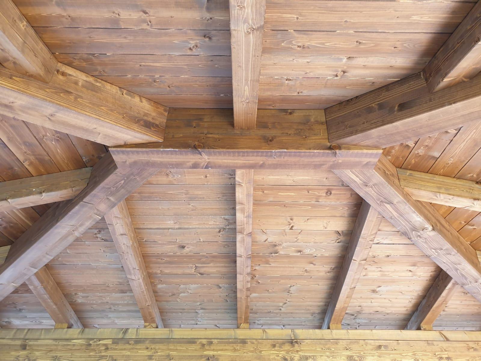 Colori Tetti Legno Lamellare gazebo in legno - marziallegno